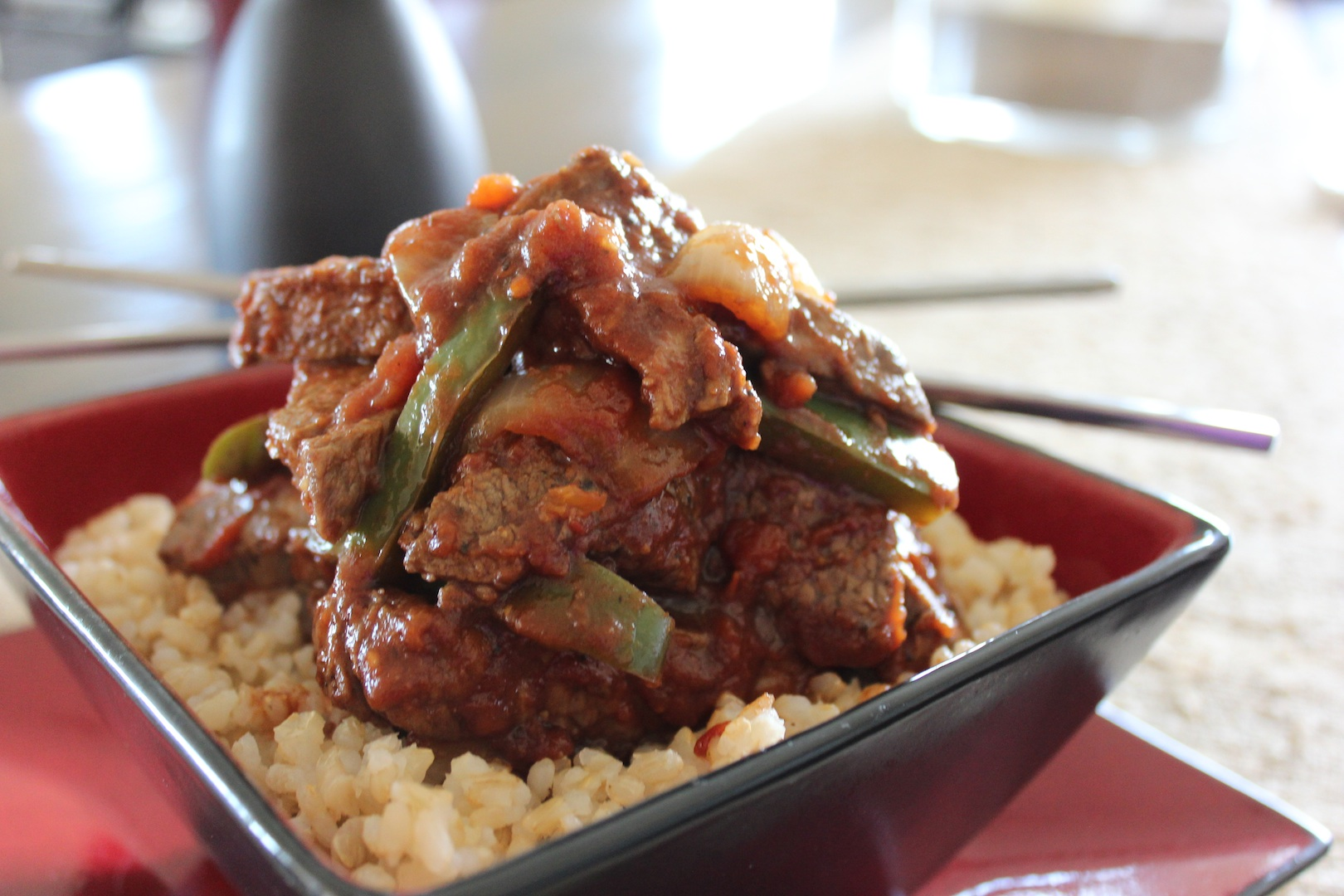 "... Biggest Loser"" Chef Devin Alexanders Recipe for Chinese Pepper Steak"