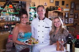 Olimpia Zuccarelli and Chef Douglas A. Chmielewicz with Debra K
