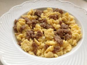 egg sausage scramble